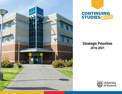 Image of front cover of the Division of Continuing Studies Strategic Plan