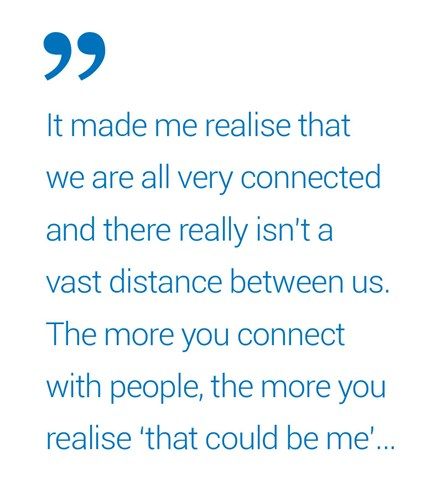 Quote: It made me realize that we are all very connected