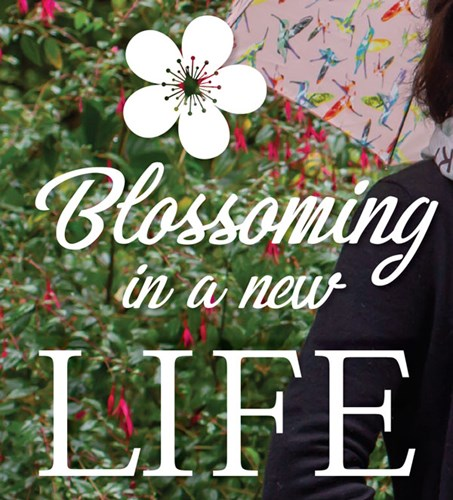 Graphic: Blossoming in a new life.