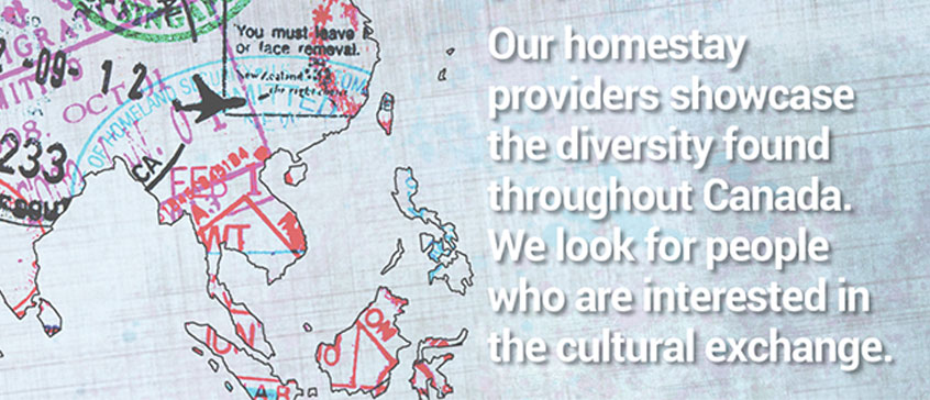 Illustration: Our homestay providers showcase the diversity found through Canada.