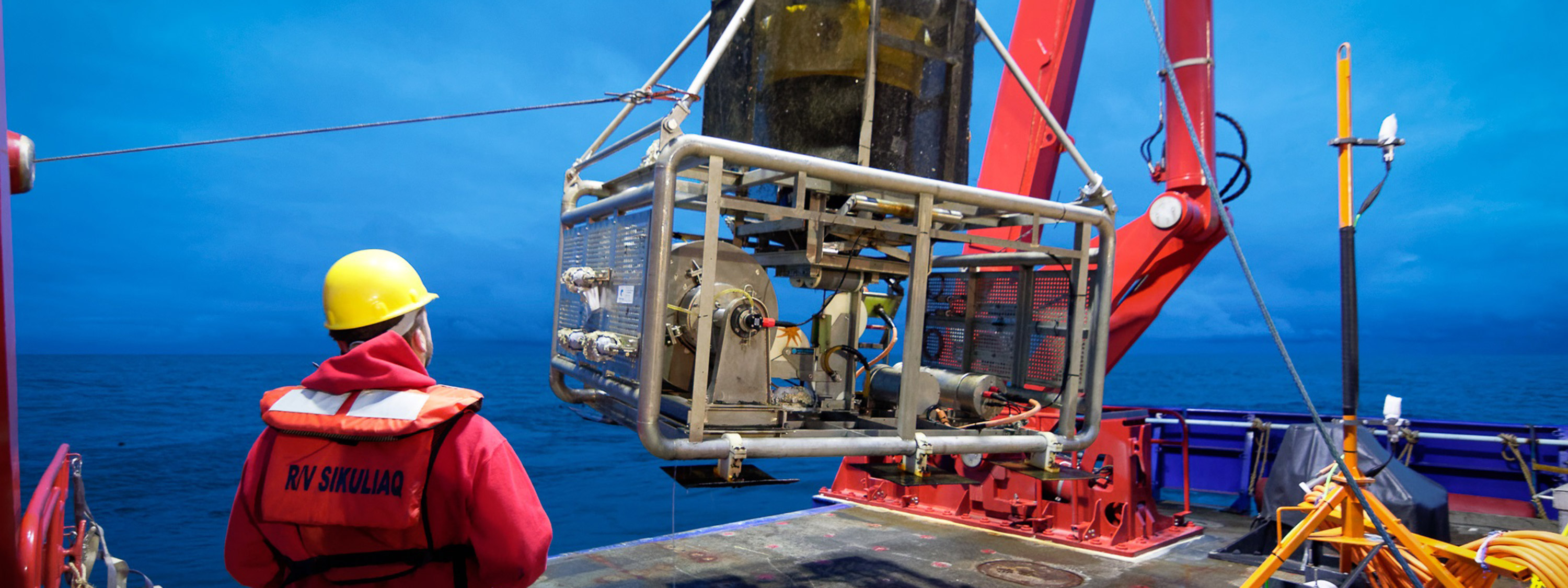 Worker and equipment, credit: Ocean Networks Canada