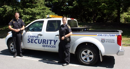Image of two UVic Campus Security staff members